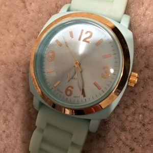 Mint rubber watch from Anthropologie